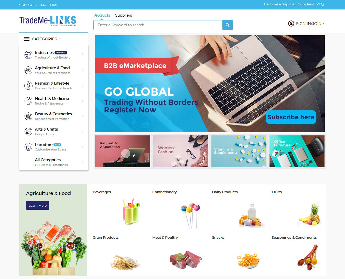 Manufacturers,Suppliers,Exporters & Importers, Online B2B marketplace|TradeMe-Links.com